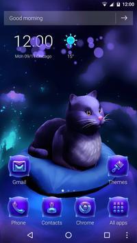 Cute Kitty - Purple Dreamy Launcher screenshot 4