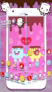 3D Pink Marshmallow Theme screenshot 1