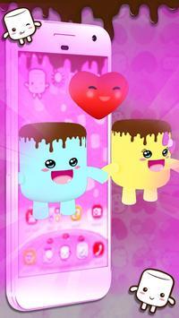 3D Pink Marshmallow Theme screenshot 2