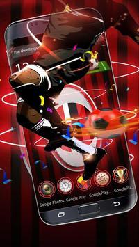 3D Milan Football Red theme poster