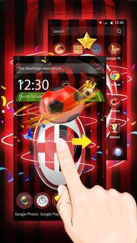 3D Milan Football Red theme screenshot 1