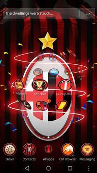 3D Milan Football Red theme screenshot 2