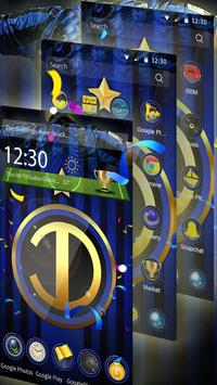 Football Club 3D blue theme apk screenshot