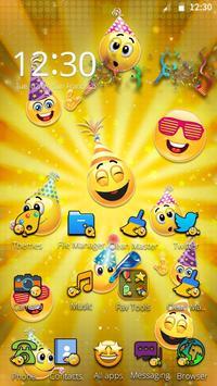 Emoticons New Year 3D Theme screenshot 3
