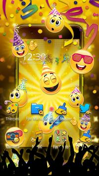 Emoticons New Year 3D Theme poster