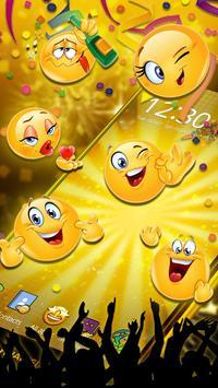 Emoticons New Year 3D Theme screenshot 1