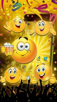 Emoticons New Year 3D Theme screenshot 2