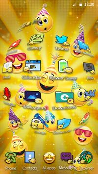Emoticons New Year 3D Theme screenshot 4
