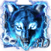 3D Blue fire Ice wolf launcher theme APK