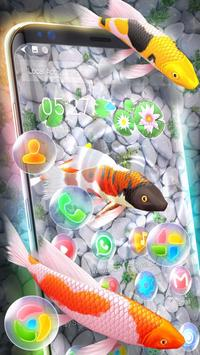 Koi Fish 3D Animated Live Theme poster