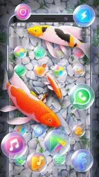 Koi Fish 3D Animated Live Theme screenshot 1