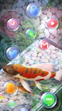 Koi Fish 3D Animated Live Theme screenshot 2