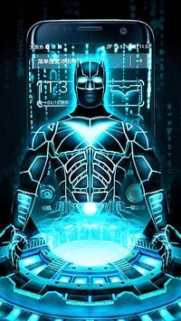 3D Neon Bat Hero Theme poster