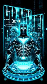 3D Neon Bat Hero Theme screenshot 1