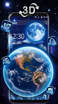 3D Earth and moon launcher theme screenshot 1