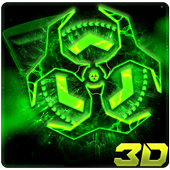 3D Biohazard Fluorescent Theme icon