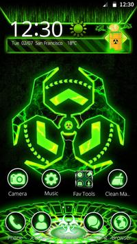 3D Biohazard Fluorescent Theme screenshot 3