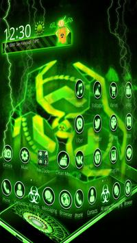 3D Biohazard Fluorescent Theme screenshot 1