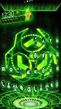 3D Biohazard Fluorescent Theme screenshot 4