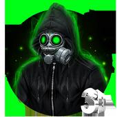 3D Cold Fire Man Theme icon