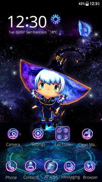 3D Neon Cute Necromancer Theme screenshot 3