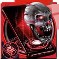 3D Skull Neon Tech Skull Theme