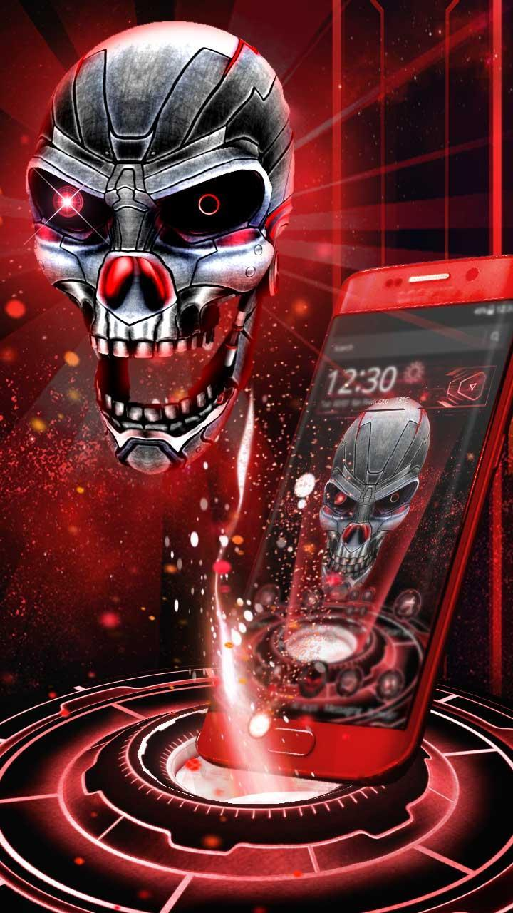 3D Skull Neon Tech Skull Theme for Android - APK Download