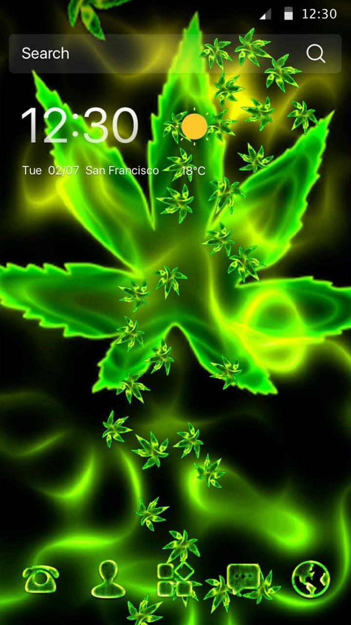 Green Weed Rasta Gravity 3D Theme Pour Android Téléchargez