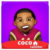 CoCo Launcher - Black Emoji Theme ,Sweet Launcher icon