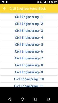 Civil Engineer Handbook poster