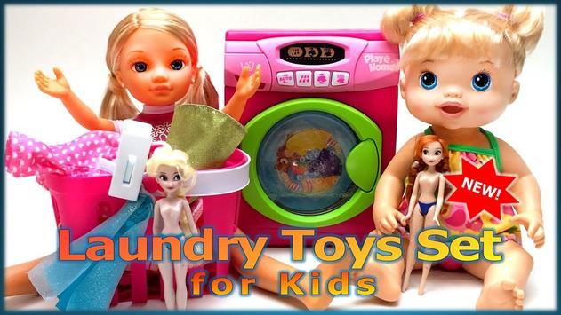 Laundry Toys Set for Kids poster