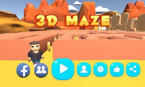 3D Maze poster