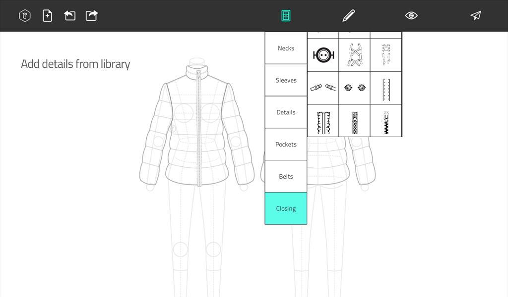 Download aplikasi lengkap untuk android Fashion Design Flat Sketch