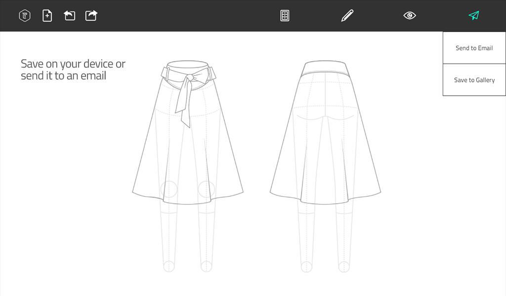 Download aplikasi Fashion Design Flat Sketch mini