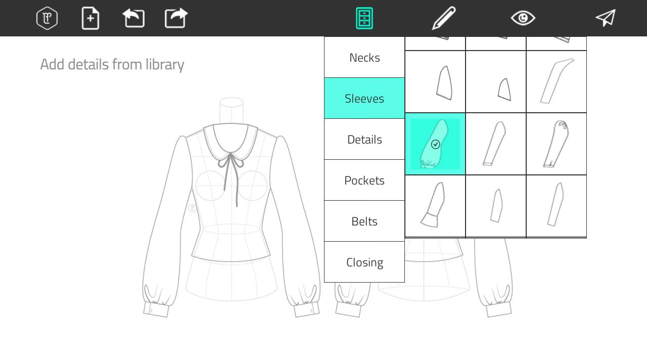 Tema hp Fashion Design Flat Sketch