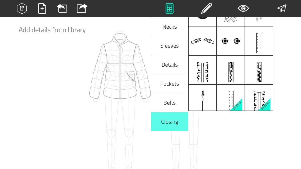 Aplikasi for android Fashion Design Flat Sketch