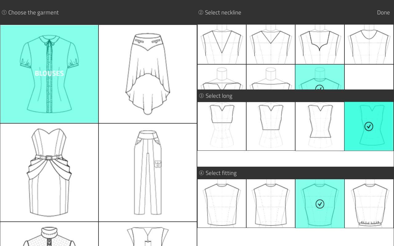 Aplikasi blackberry Fashion Design Flat Sketch
