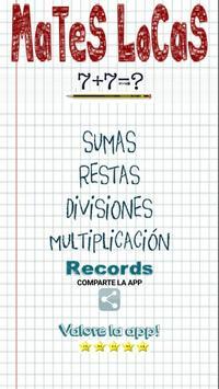 Mates Locas Matemáticas poster