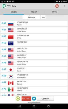 VPN Gate apk screenshot