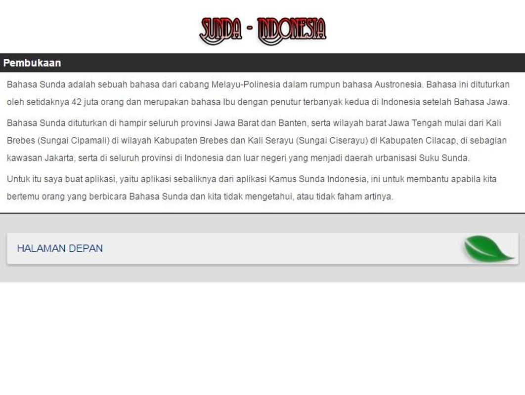 Kamus sunda indonesia apk download free books & reference app.