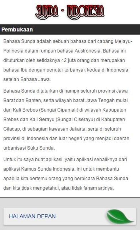 Kamus sunda indonesia | 1mobile. Com.