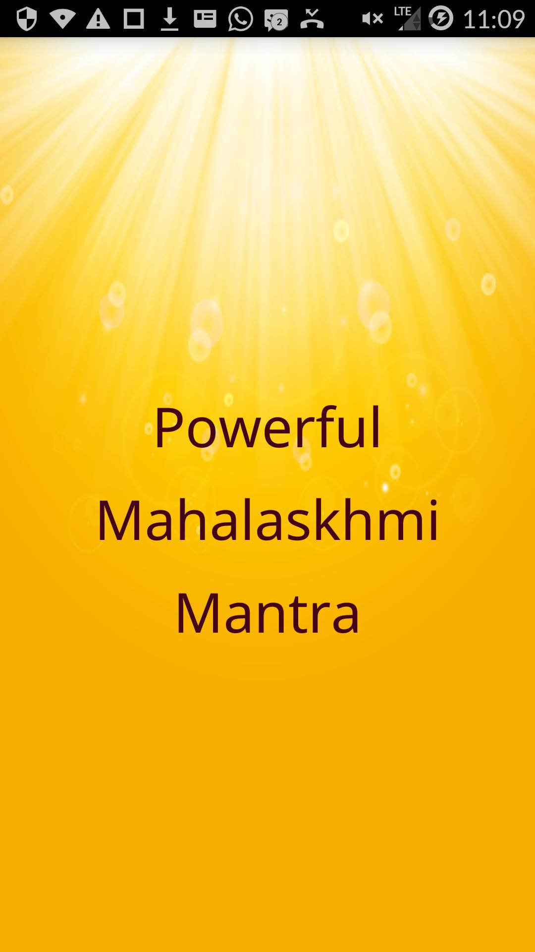 Powerful Mahalakshmi Mantra for Wealth for Android - APK
