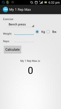 My 1 Rep Max apk screenshot