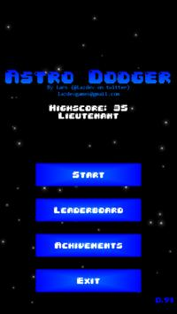 Astro Dodger poster