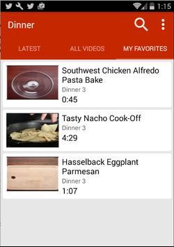 Dinner Recipes (Video) screenshot 4