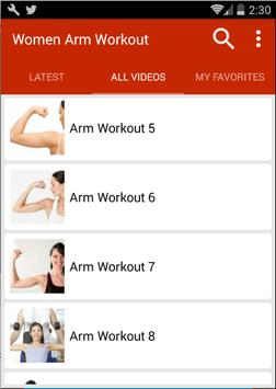 Arm Workout For Women screenshot 2