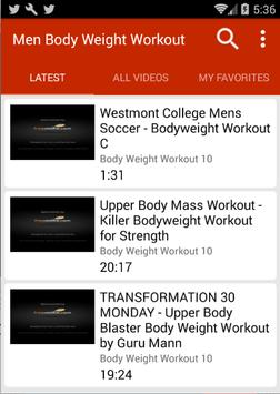 Bodyweight Workouts For Men poster