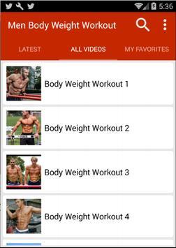 Bodyweight Workouts For Men screenshot 1
