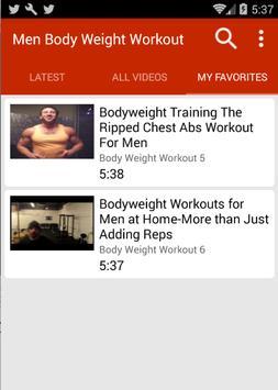 Bodyweight Workouts For Men screenshot 3