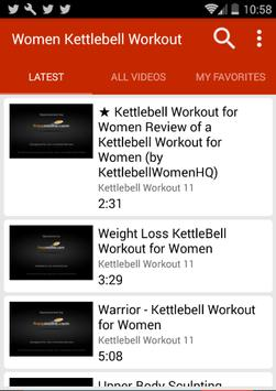 Kettlebell Workouts For Women poster